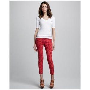 JOE'S 'The High Water' Tribal Crop Skinny Jeans A4